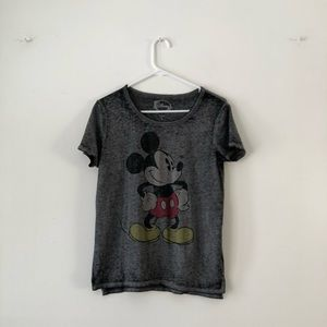 Mickey Mouse Grey Burnout Tee